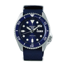 Load image into Gallery viewer, Seiko 5 Sports Automatic Navy Blue Nylon Strap Watch SRPC87K1