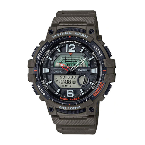 Casio Outgear Series Green Resin Band Watch WSC1250H-3A WSC-1250H-3A