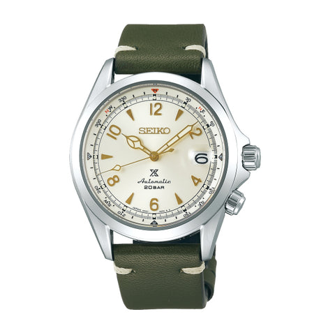 Seiko Prospex (Japan Made) Automatic Green Calf Leather Strap Watch SPB123J1 | Watchspree