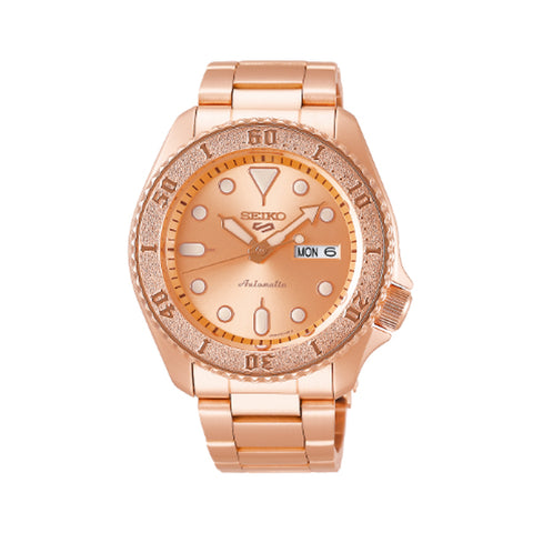 Seiko 5 Sports Automatic Rose Gold Stainless Steel Band Watch SRPE72K1 | Watchspree