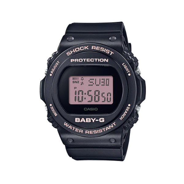 Casio Baby-G BGD-570 Lineup Black Resin Band Watch BGD570-1B BGD-570-1B