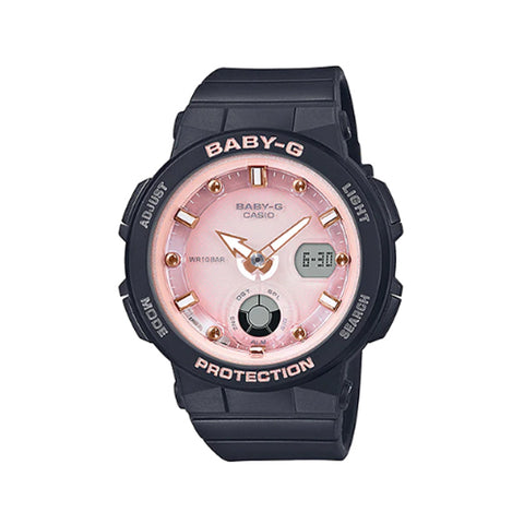 Casio Baby-G Beach Traveler Series Black Resin Band Watch BGA250-1A3 BGA-250-1A3