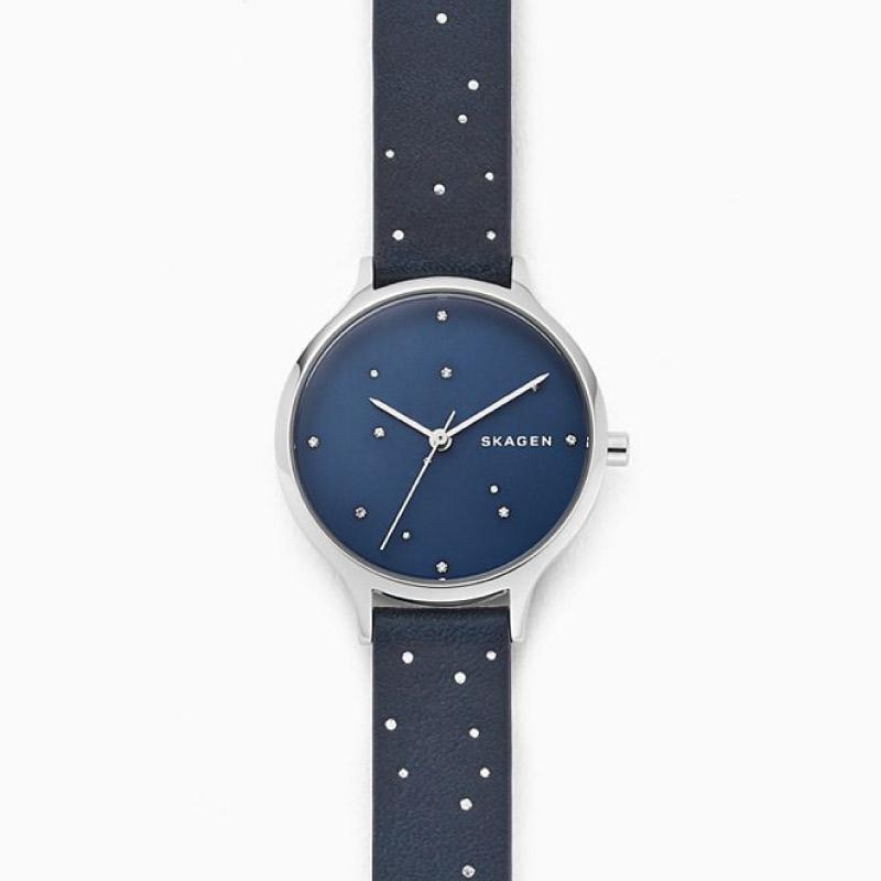 Skagen Ladies' Anita Blue Leather Constellation Watch SKW2762