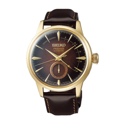 Seiko Presage (Japan Made) Automatic Limited Edition Dark Brown Calfskin Leather Strap Watch SSA392J1 | Watchspree