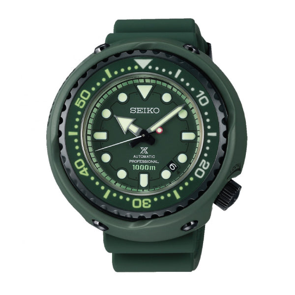 Seiko Prospex (Japan Made) Mobile Suit Gundam 40th Anniversary Limited Edition Automatic Professional Green Silicone Strap Watch SLA029J1 (LOCAL BUYERS ONLY)