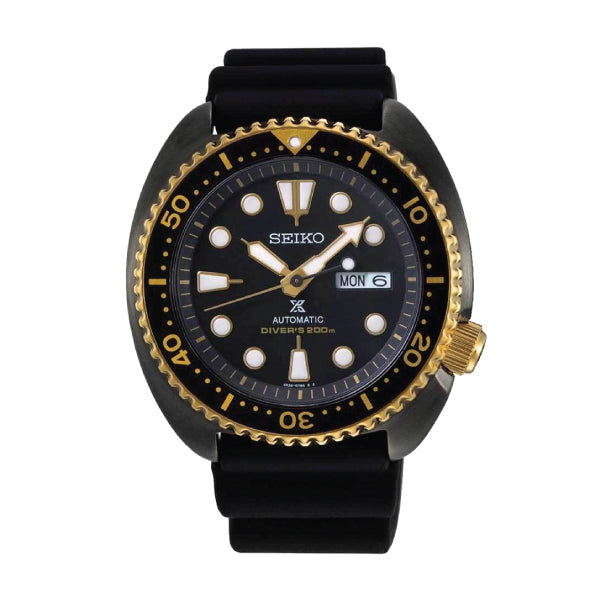 Seiko Prospex (Japan Made) Automatic Special Edition Black Silicon Strap Watch SRPD46K1 | Watchspree