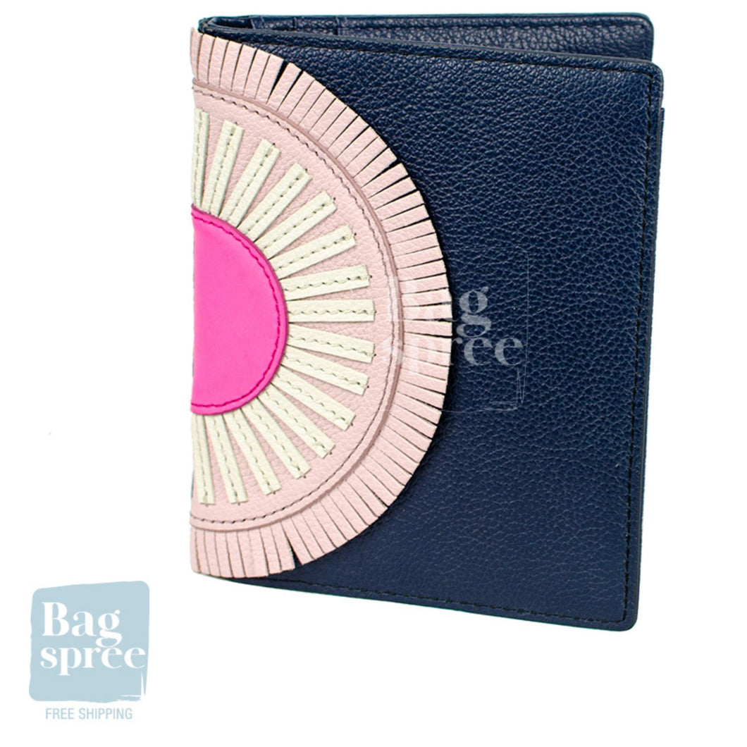 Fossil RFID Leather Passport Case Blue SLG1150406