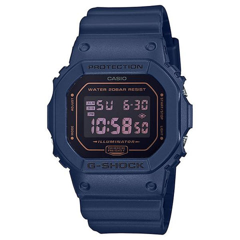Casio G-Shock DW-5600 Lineup Special Color Model Matte Blue Resin Band Watch DW5600BBM-2D DW-5600BBM-2D DW-5600BBM-2 | Watchspree