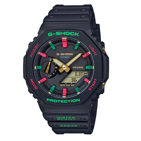 Casio G-Shock Carbon Core Guard Structure Black Resin Band Watch GA2100TH-1A GA-2100TH-1A