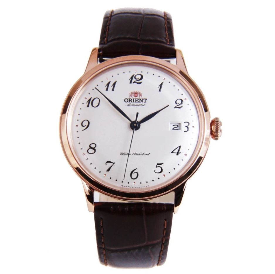 Orient Men's Automatic Brown Leather Strap Watch RA-AC0001S10B  | Watchspree