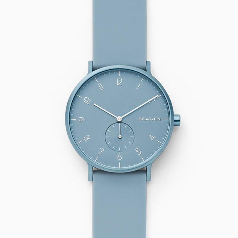 Skagen Men's Aaren Kulor Light Blue Silicone 41mm Watch SKW6509