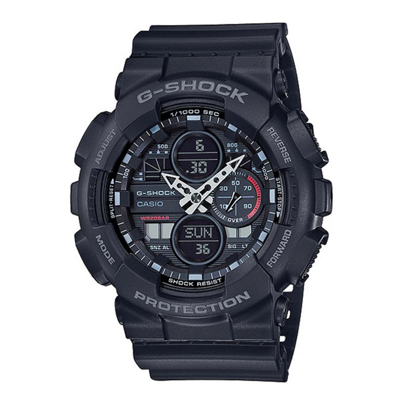 Casio G-Shock Standard Analog-Digital GA series Black Resin Band Watch GA140-1A1 GA-140-1A1 | Watchspree