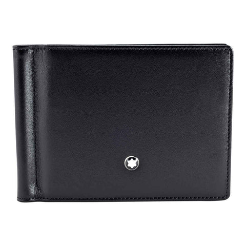MontBlanc Meisterstück 6 CC Men's Leather Wallet With Money Clip 5525