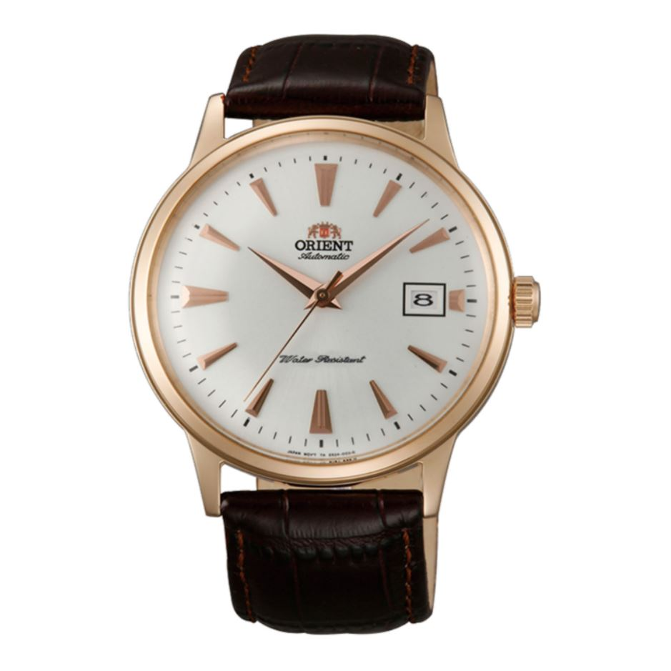 Orient Men's 2nd Generation Bambino Automatic Brown Leather Strap Watch FAC00002W0  | Watchspree