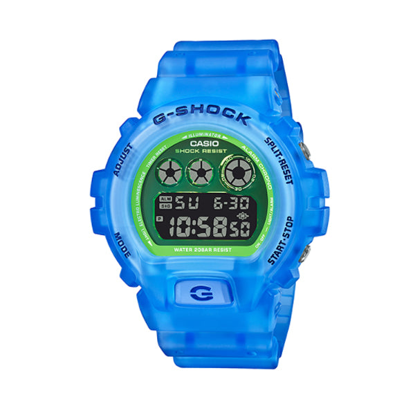 Casio G-Shock DW-6900 Lineup Special Colour Model Blue Semi-Transparent Resin Band Watch DW6900LS-2D DW-6900LS-2D DW-6900LS-2
