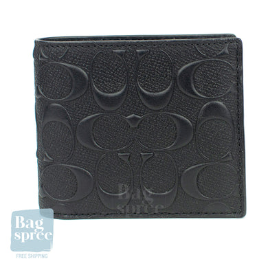 Coach Compact ID Wallet Black F75371 BLK