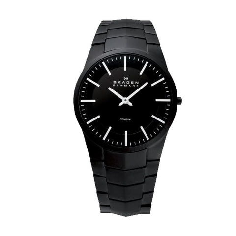 Skagen Men's Thyge Black Links Swiss Titanium Bracelet Watch 585XLTMXB