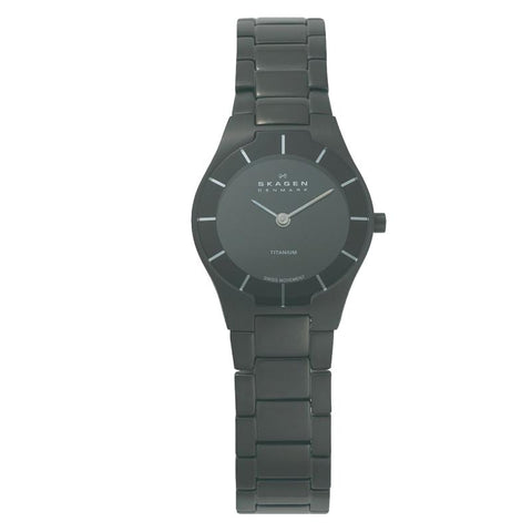 Skagen Ladies' Black Label Architect Titanium Bracelet Watch 585XSTMXB