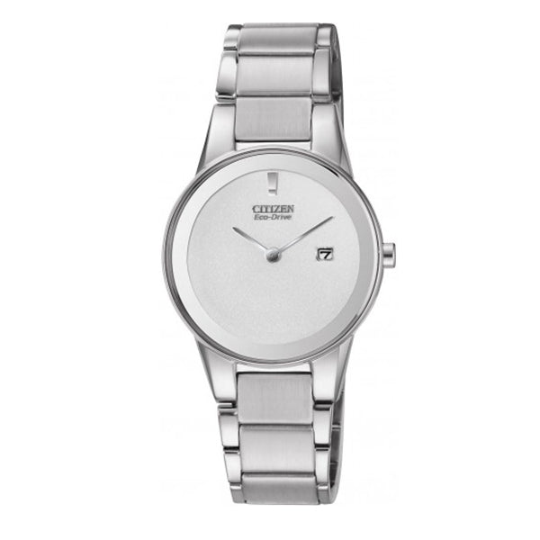Citizen Axiom Ladies' Eco-Drive Stainless Steel Band Watch GA1050-51A