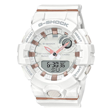 Casio G-Shock S Series G-Squad Bluetooth¨ White Resin Band Watch GMAB800-7A GMA-B800-7A