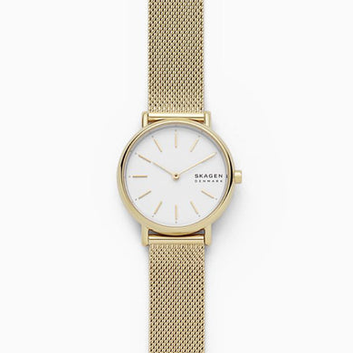 Skagen Ladies' Siugnature Slim Gold Tone Steel Mesh Watch SKW2693