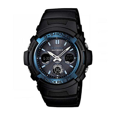 Casio G-Shock Analog-Digital Tough Solar MULTIBAND6 Black Resin Strap Watch AWGM100A-1A AWG-M100A-1A
