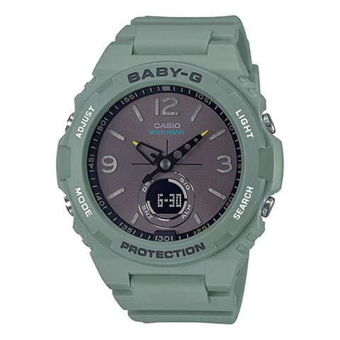 Casio Baby-G Standard Analog-Digital Green Resin Band Watch BGA260-3A BGA-260-3A