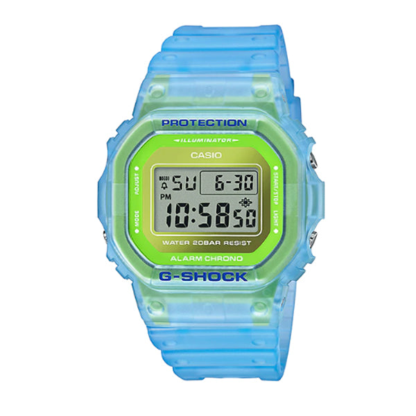 Casio G-Shock DW-5600 Lineup Special Colour Model Blue Semi-Transparent Resin Band Watch DW5600LS-2D DW-5600LS-2 [SWF]