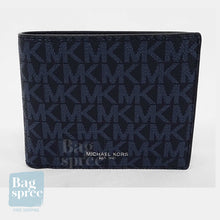 Load image into Gallery viewer, Michael Kors Cooper Billfold with Passcase Wallet Blue 36U9LCRF6B ADML/PL BLUE