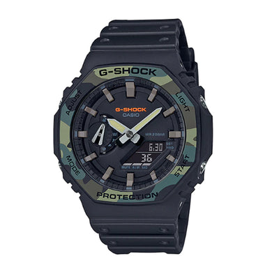 Casio G-Shock Carbon Core Guard Structure Special Colour Black Resin Band Watch GA2100SU-1A GA-2100SU-1A
