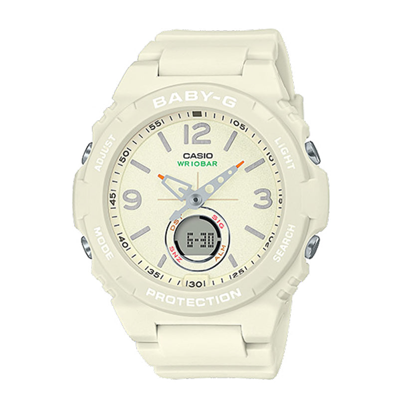 Casio Baby-G Standard Analog-Digital White Resin Band Watch BGA260-7A BGA-260-7A