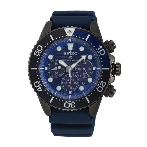 Seiko Prospex Chronograph Air Diver Special Edition Navy Blue Silicone Strap Watch SSC701P1 (LOCAL BUYERS ONLY)