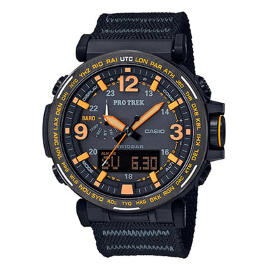 Casio Pro Trek PRG-600 Series Triple Sensor Tough Solar Black MAXIFRESH® Cloth Band Watch PRG600YB-1D PRG-600YB-1D PRG-600YB-1