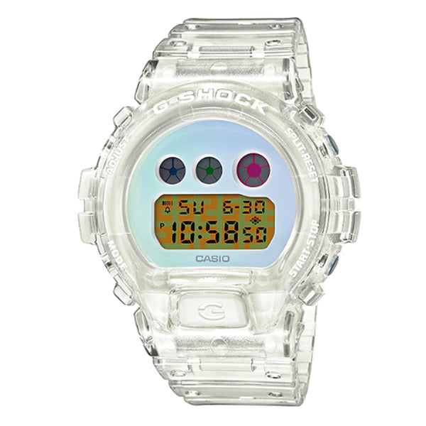 Casio G-Shock 25th Anniversary Standard Digital Semi Transparent Resin Band Watch DW6900SP-7D DW-6900SP-7D DW-6900SP-7
