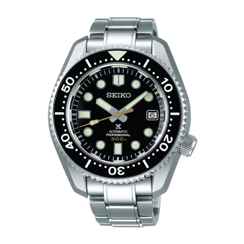 Seiko Prospex (Japan Made) He-Diver's Automatic Professional Marin Master Silver Stainless Steel Band Watch SLA021J1 | Watchspree