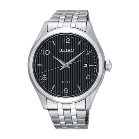 Seiko Solar Silver Stainless Steel Band Watch SNE489P1 | Watchspree