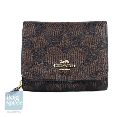Coach Small Trifold Wallet Brown F41302 IMAA8