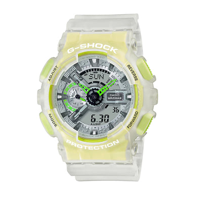 Casio G-Shock GA-110 Lineup Special Colour Model White Semi-Transparent Resin Band Watch GA110LS-7A GA-110LS-7A