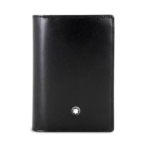 Montblanc Business Card Gusset Black Leather 2CC Wallet 7167
