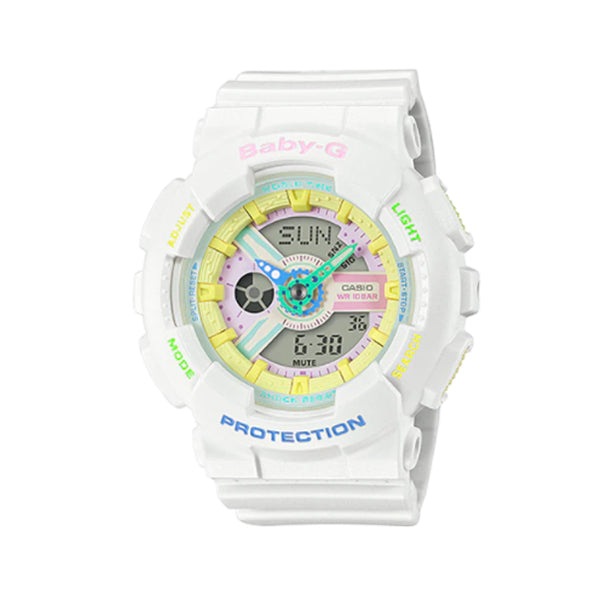 Casio Baby-G BA110 Series Special Colour Models Decora Style Black Resin Band Watch BA110TM-7A BA-110TM-7A