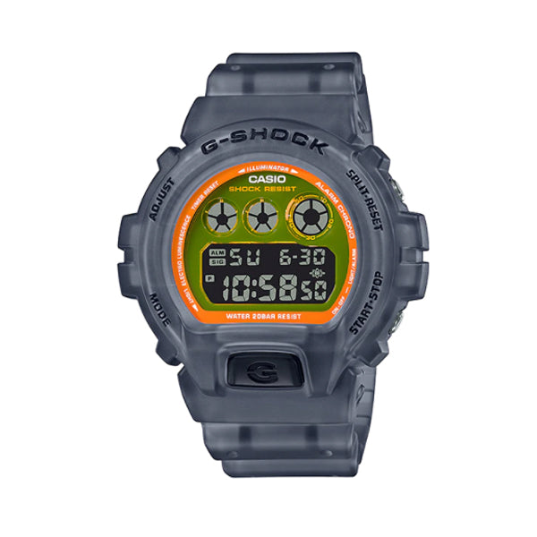 Casio G-Shock DW-6900 Lineup Special Colour Model Black Semi-Transparent Resin Band Watch DW6900LS-1D DW-6900LS-1D DW-6900LS-1