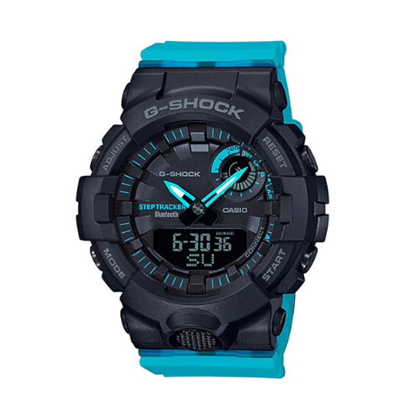 Casio G-Shock G-Squad for Ladies' GBA-800 Lineup Blue Resin Band Watch GMAB800SC-1A2 GMA-B800SC-1A2