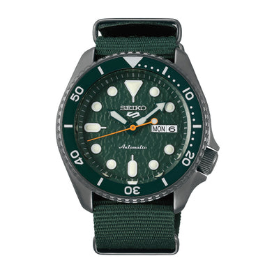 Seiko 5 Sports Automatic Green Nylon Strap Watch SRPD77K1