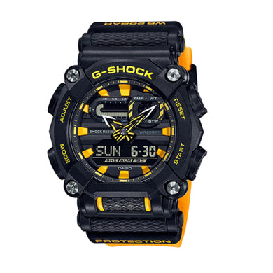 Casio G-Shock GA-900 Lineup Yellow Resin Band Watch GA900A-1A9 GA-900A-1A9