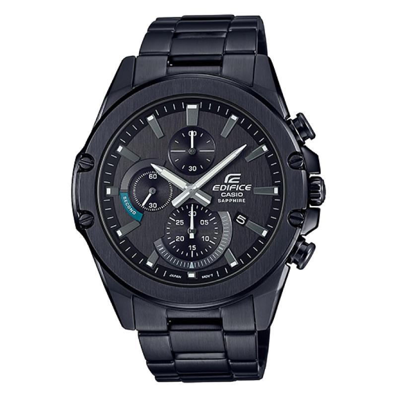 Casio Edifice Standard Chronograph Black Ion Plated Stainless Steel Band Watch EFRS567DC-1A EFR-S567DC-1A