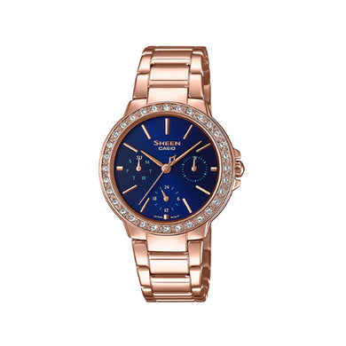 Casio Sheen with Swarovski® Crystals Rose Gold Ion Plated Stainless Steel Band Watch SHE3069PG-2A SHE-3069PG-2A
