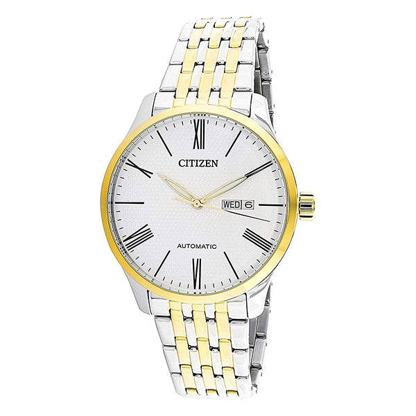Citizen Automatic Two-Tone Stainless Steel Band Watch NH8354-58A