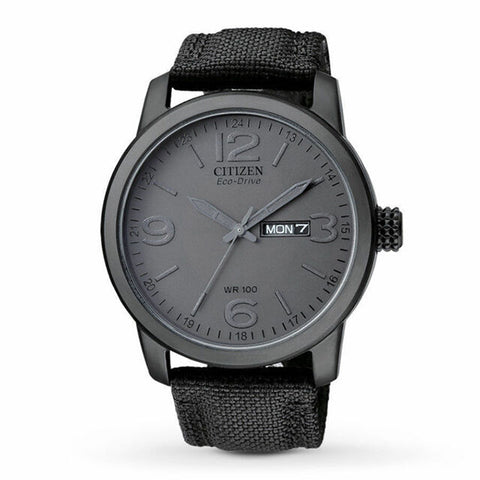 Citizen Eco-Drive Black Cloth Band Watch BM8475-00F