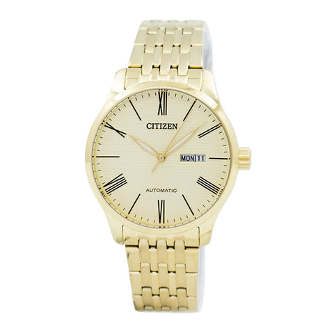 Citizen Automatic Gold-Tone Stainless Steel Band Watch NH8352-53P