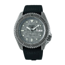 Load image into Gallery viewer, Seiko 5 Sports Automatic Black Calfskin + Silicone Strap Watch SRPE79K1